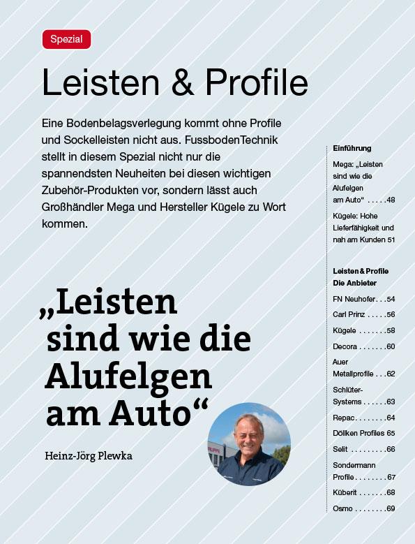 Leisten + Profile 2021