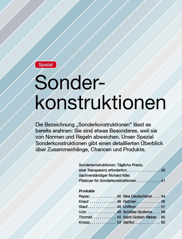 Sonderkonstruktionen-Spezial